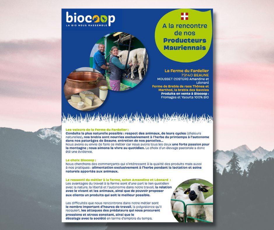 affiche Biocoop St jean de maurienne
